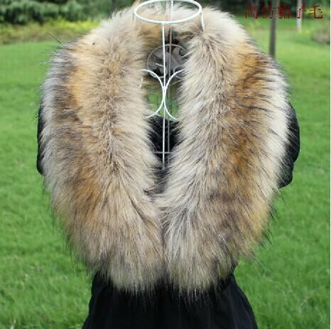 Female Imitation Fox Fur Collar Winter Warmer Leather Grass Imitation Raccoon Fur Collar False Scarf Womens Scarves