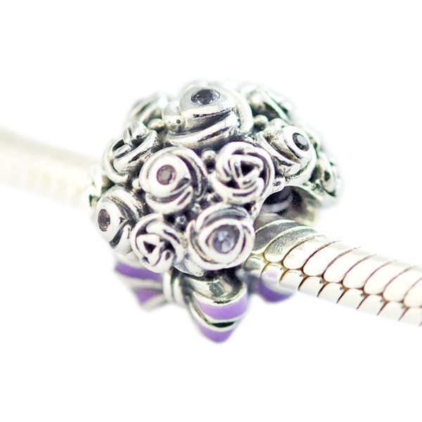 Celebration Bouquet Charms S925 silver fits for pandora style bracelet 797260NLC H8