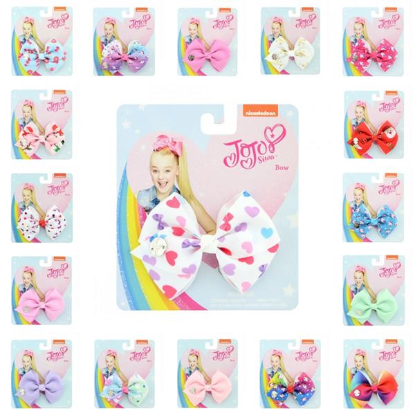 DHL JOJO multicolor Hecho a mano Hecho a mano Grosgrain Ribbon Hair Clips Día del niño Accesorios para el cabello para Niñas Niños Horquilla H952R