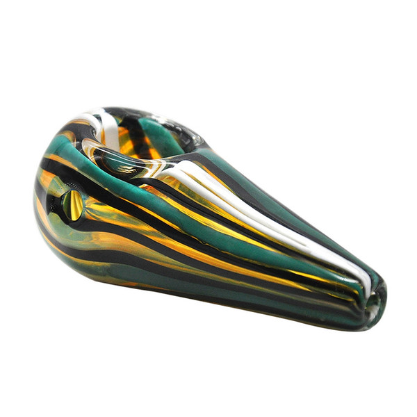Colorful Glass Smoking Pipe Glass Tobacco Pipe Mix Colors Multi Swirl Twisted Colored Bongs Water Pipes Glass Dry Pipe free shoppin