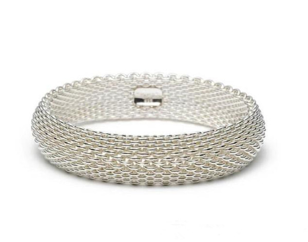 Luxury Design 925 Silverware Silver Chain Bracelet Fashion Men Women Letter Clover Wide Bracelets Jewelry with Box