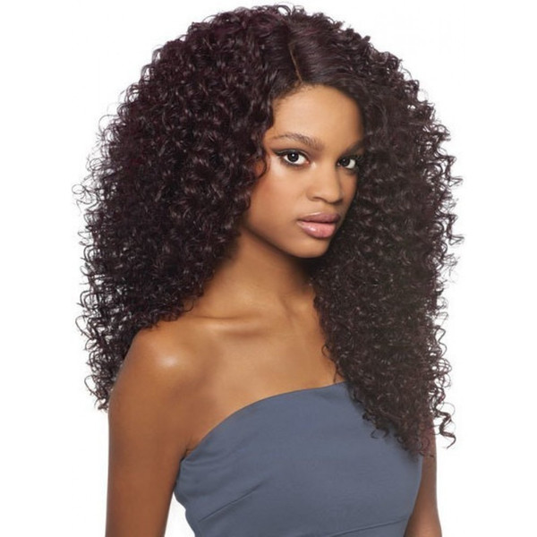 2018 10a grade pretty beauty aaaa 100% unprocessed remy virgin human hair natural color long afro curly full lace wig for women