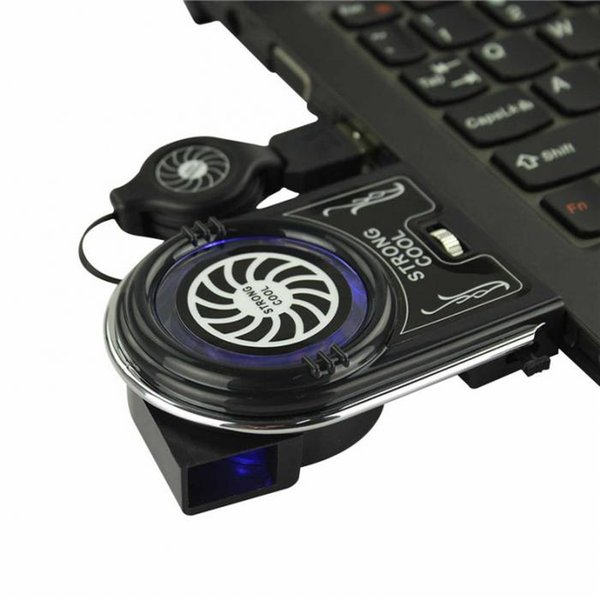 Mini Vacuum USB Cooler Air Extracting Cooling Fan for Notebook Laptop Computer Peripherals Black Free Shipping