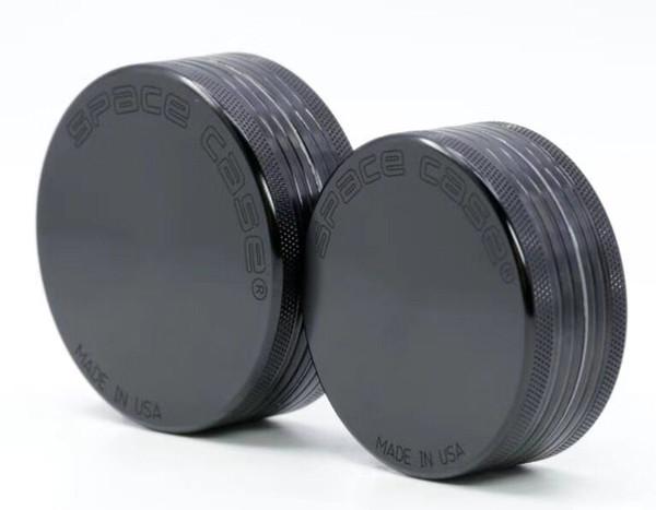 Cheapest 55mm 2pc CNC Aluminum space case Grinder tobacco smoke cigarette detector grinding smoke Tobacco grinder VS sharpstone