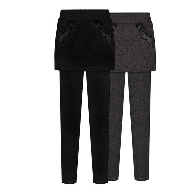 Kış Sıcak Kadınlar Kadife Elastik Tayt Pantolon Polar Astarlı Kalın Tayt