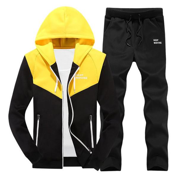 2018 Mens Jackets + Men Pants Fashion Business Popular Men Sets Movement Exercise Size S M-5XL Comfortable Hot Sale Tops Lace-up
