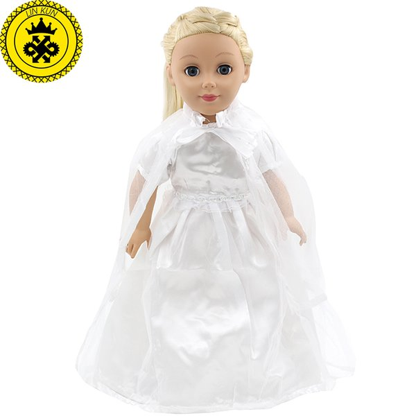 American Girl Doll Clothes White Wedding 18 Inch Doll Clothes Madame ...