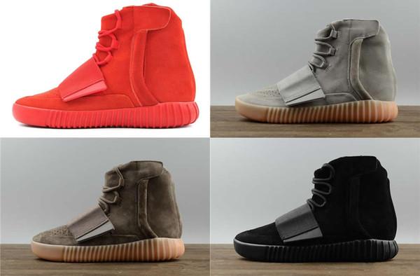 Sıcak satış tasarımcısı ayakkabı Kanye West 750 çizmeler Açık Gri Kahverengi sneakers Üçlü Siyah Gri Rahat ayakkabılar 750 Açık yürüyüş koşu ayakkab ...