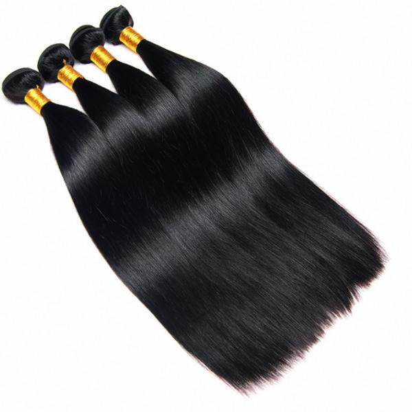 Brazilian Straight Virgin Hair 4 Bundles 5 bundles Natural Black Unprocessed Brazilian Straight Human Hair Extensions Cheap Brazilian Hair