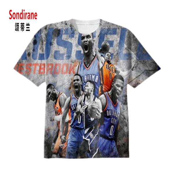 Design WESTBROOK 3D Sublimation Print Custom Made T-shirt Summer Short Sleeve Fashion T Shirts Crewneck Hip Hop Tops