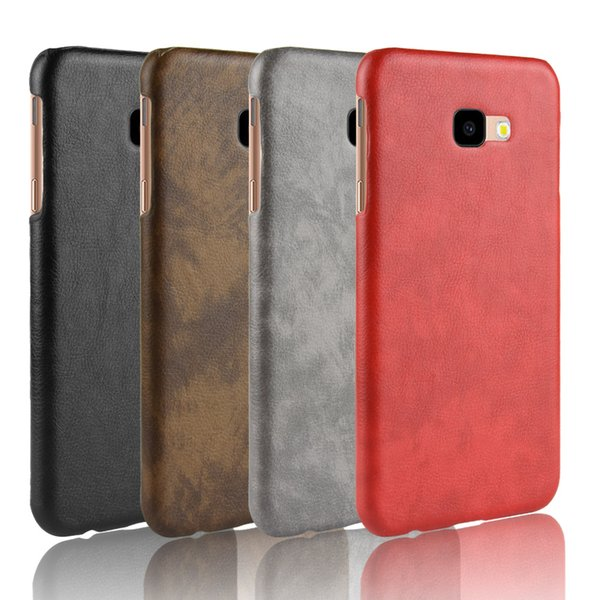 Luxury Business Retro Litchi PU Leather Hard Plastic Back Cover Case For Samsung S9 Note 9 A8 Star J2 Core J4 J6 Plus J8 A7 A750 A9 2018 A6S