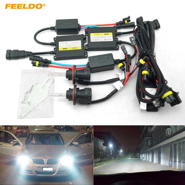 FEELDO 35W AC Car Headlight H13 HID Xenon Bulb Hi/Lo Beam Bi-Xenon Bulb Light Digital Slim Ballast HID Kit #4534