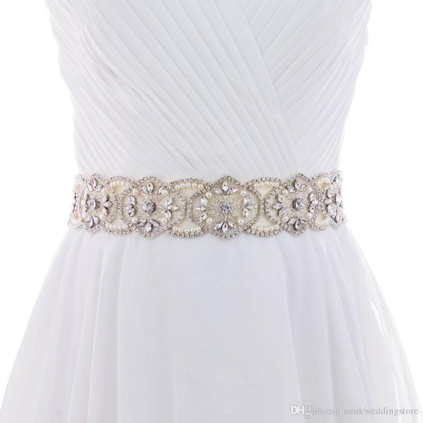 2018 S296 Crystal Rhinestones Bride Evening Party Gown Dresses Accessories Wedding Sashes Belt/Waistband Bridal Belts Sashes