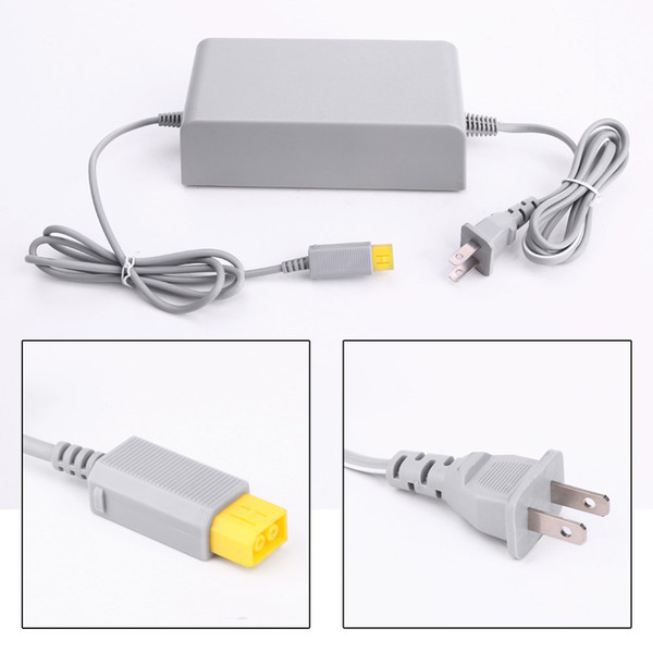 top popular Universal Wall Charger for WiiU Power Supply EU US Plug AC Adapter adaptor for Wii U Console Host DHL FEDEX EMS FREE SHIPPING 2021