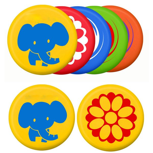 Soft PU Frisbee Toy Kindergarten Playing Game Flying Disc Frisbee Toy ForParent-Child Interactive Outdoor Flying Disk Game Props