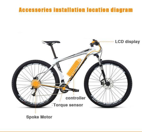 "72V 3000W Electric Bicycle eBike Conversion Kits Motor Para Bicicleta 20"" 24"" 26"" 28"" Rear / Front Wheel"