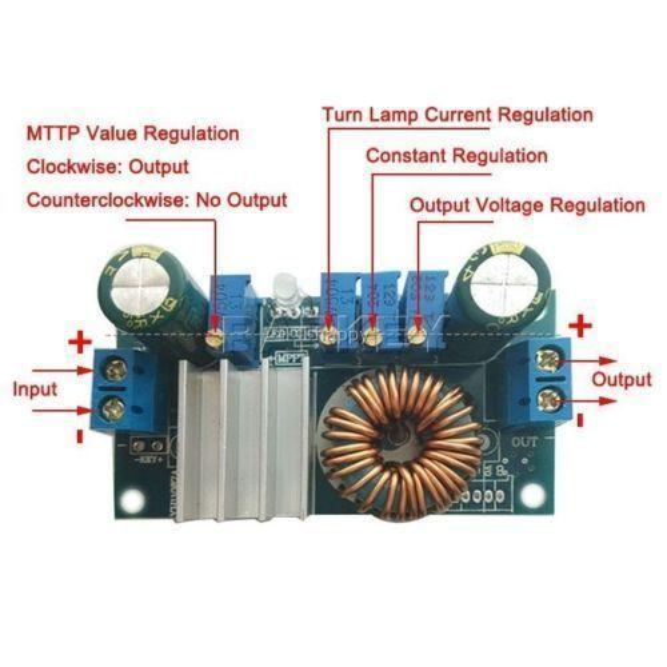 Freeshipping 5A MPPT Solarmodul Controller DC / DC 6 V-36 V zu 1,25-32 V 5 v 12 v 24 v 19 v Konstantstromspannung Buck Step Down Power Modul