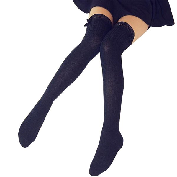 Fashion Sexy Warm Thigh High Over The Knee Socks Long Cotton Stockings For Girls Lady Women Sexy Retro Heart Vertical Lace 2018