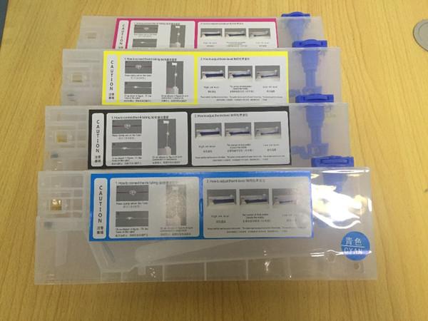 Cartuccia di inchiostro della ricarica della ricarica di 4pcs / lot 220ml per Roland / Mimaki / Mutoh ed altro sistema di inchiostro all'ingrosso della stampante