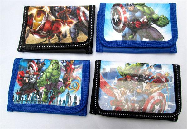 Kinder Brieftasche The Avengers Super Helden Jungen und Mädchen Geldbörse Cartoon Iron Man Hulk Kinder Brieftaschen TO530