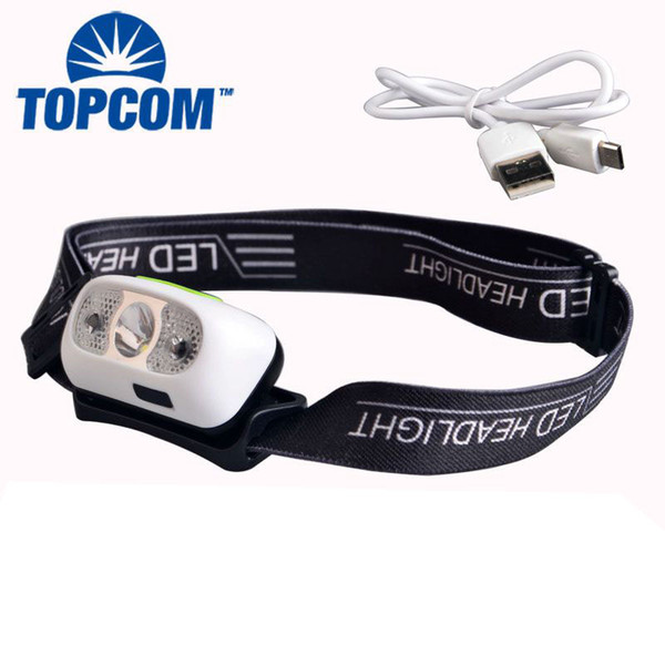 New Sensor Motion USB Camping Headlamp High Power Rechargeable USB Headlamp For Camping