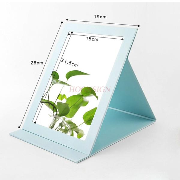 Cartoon mirror desktop vanity mirror paper folding with ultra-thin square makeup