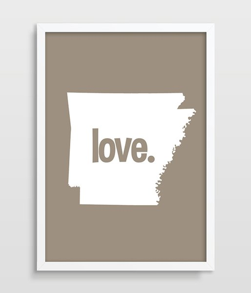 Arkansas Typography Print Map Art US States Poster Map Print AR State Print Wedding or Anniversary Gift printed canvas painting