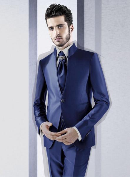 Custom fashion new men's suit two-piece suit (jacket + pants) men's business formal suit men's ball party dress