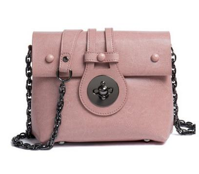 Genuine leather women chain designer shoulder crossbody messenger bags lady cow leather casual evening purses black/brown/pink color no807