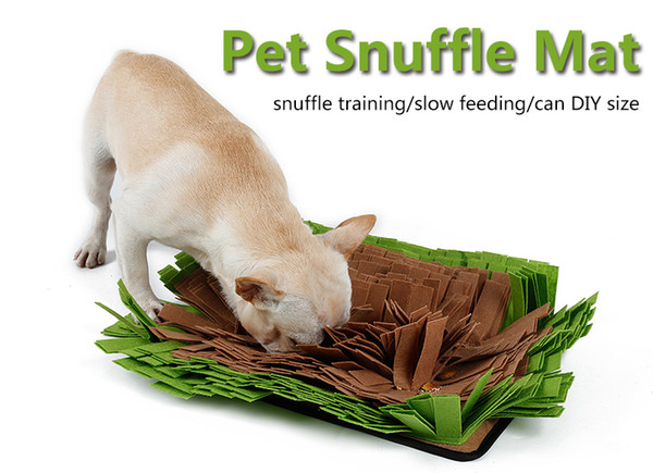 best selling Wholesale 1 PCS Pet Snuffle Mat Nosework Blanket Dog Training Mats Dog Feeding Mat Yummy Mat Toy Nose Work for Stress Release