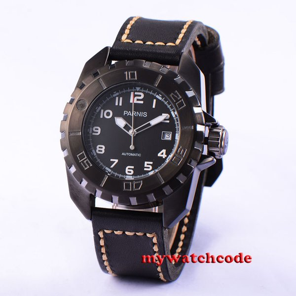45mm black dial PVD 21 Jewels miyota automatic movement mens watch P424