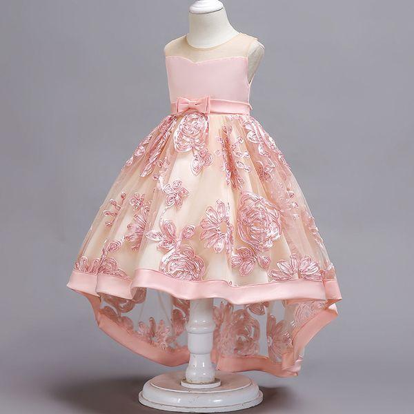 lace Flower Girl Dress 2-10 Years kids Princess Party dresses baby girl clothes elegant sleeveless Wedding Dress Children's clothing