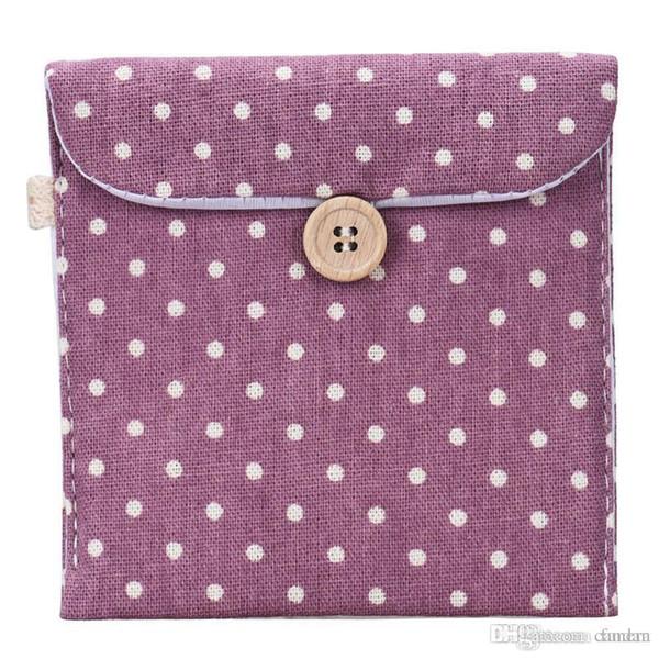 Wholesale- Hot Sale Casual Candy Color Bags for Girl Cotton Diaper Sanitary Napkin Package Bag Storage Organizer Makeus Bag Wholesale Blosa