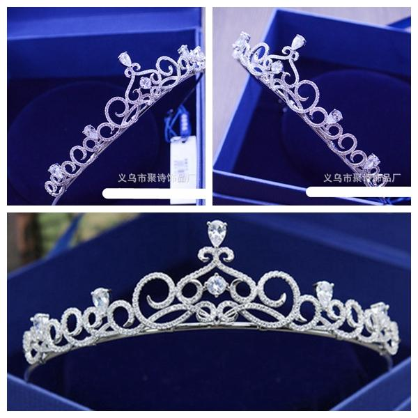 Bride Korean version of the simple new full zircon crown / fine luxury bride wedding dress jewelry / more style into the shop to choose