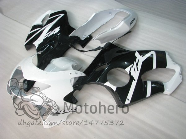 Injection molding Free Gifts Bodywork For HONDA CBR600 F4 1999 2000 CBR 600F4 99 00 Black White Q231 CBR 600 F4 99-00 FS Fairing Kit