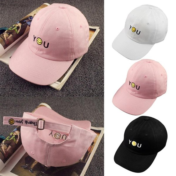 Unisex Snapback Baseball Peaked Cap Children Kids Smiling Face Adjustable Hip Hop Hat Child Summer Sun Hats