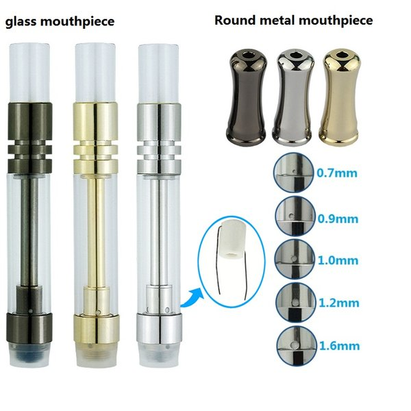 silver 1.0ml metal tip message oil hole
