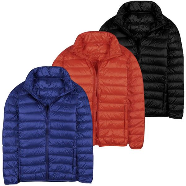 2018 Autumn Winter Puffer Duck Down Jacket Ultra Light Men Coat Waterproof Down Parkas Fashion Mens Collar Outerwear Coat