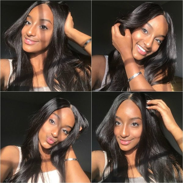 Unprocessed Brazilian Virgin Straight Hair Wigs Lace Front Glueless Malaysian Indian Peruvian Human Hair Full Lace Wigs Cheap Price Wigs