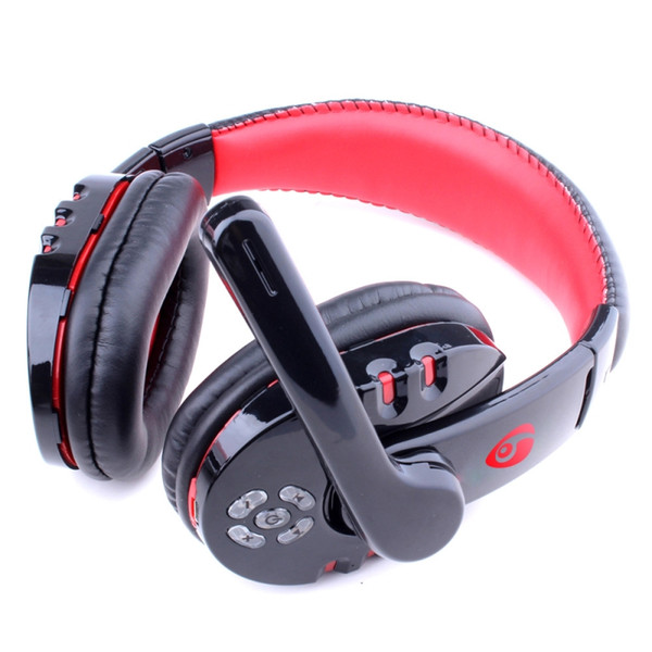 New Bluetooth Gaming Headphone Wireless Earphones Over Ear Headset Hands-free Adjustable Headband with Mic for PS3 Smartphone Game Music