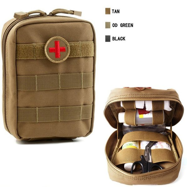4 Colors Empty Bag for Emergency Bag Tactical First Aid Kit Waist Pack Outdoor Camping Travel Tactical Molle Pouch