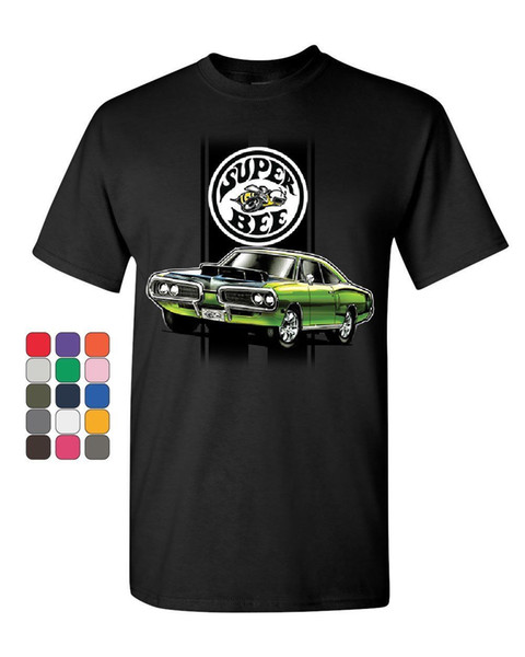Dodge Green Super Bee T-Shirt Amerikanische Klassische Muscle Car T-shirt Männer Casual Kurzarm Baumwolle Benutzerdefinierte 3XL Paar T-shirts
