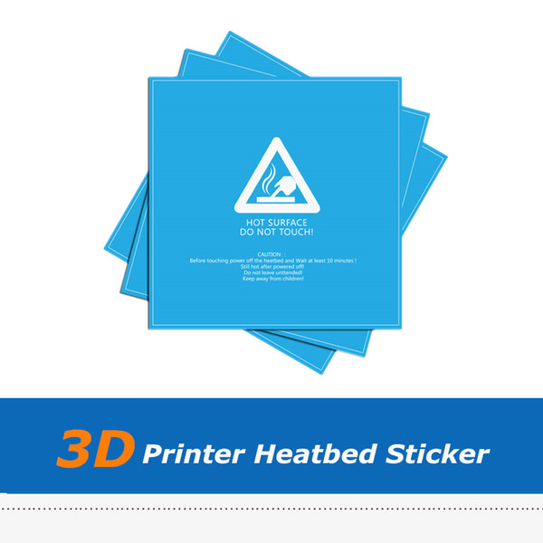 5pcs/lot 220X220mm Blue Frosted Heated Bed Sheet, 3D Printer Build Plate Sticker For Wanhao i3 Anet A8 A6
