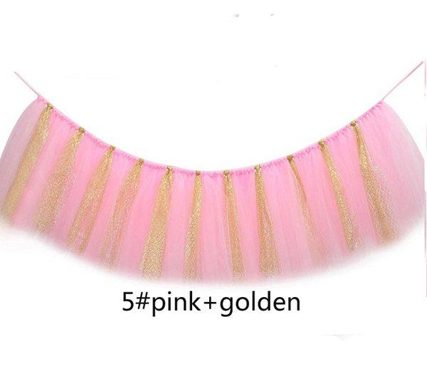 5 pink golden