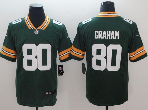 new product 6779b 3165a 2019 Aaron Rodgers Jersey Packers Green Bay Clay Matthews Brett Favre  Custom Soccer Rugby Retro American Football Jerseys Cheap Wholesale Deals  From ...