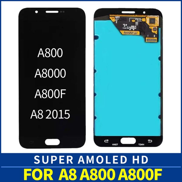 100% Tested amoled For Samsung Galaxy A8 A8000 A800 A800F LCD Display Touch Screen Digitizer Full Assembly +Tracking Number