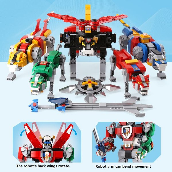 top popular 16057 reetched film series: animal king transformation robot assembly and insertion building block puzzle toys 2020
