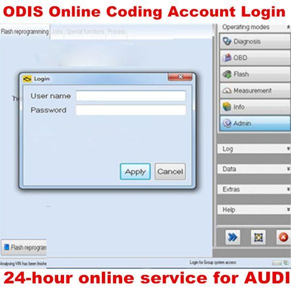 Account di codifica online ODIS Accedi al servizio una volta per Audi 4.2.3 per VAS Interfaccia diagnostica VAS5054A 4.3.3 VAS6154