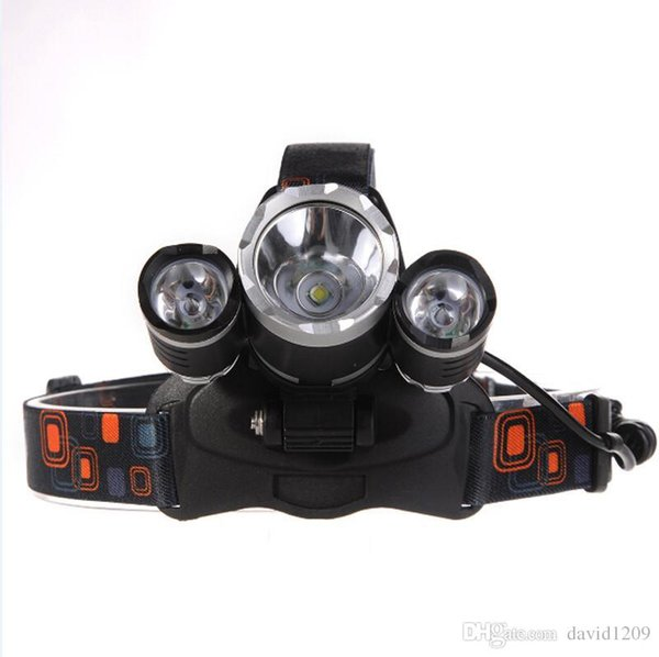 2016 New,3L2 Headlamp 6000 Lumens 3 x Cree XM-L2 Head Lamp LED camping Headlamp Headlight with rechargeable battery & charger