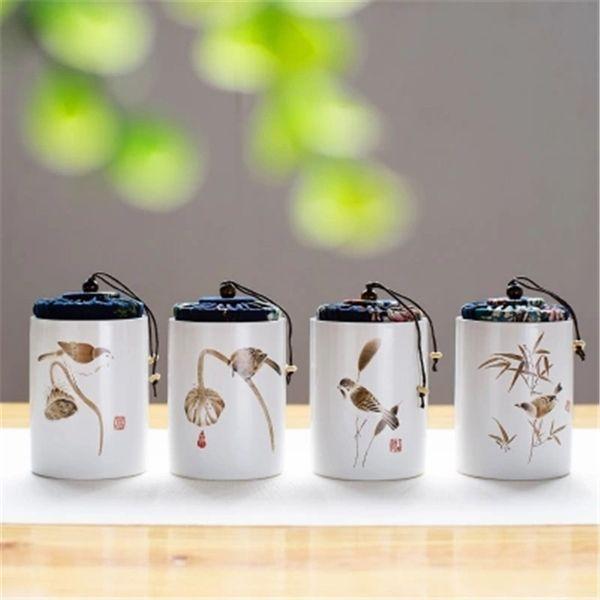 New Kitchen Storage Boxes for Tea Sugar Sundries Ceramic Storage Jars with Lids Mini Box for Spices Cajas de almacenamiento